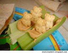 Celery boats with bears