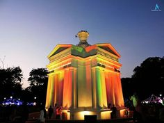 Puducherry Monument. South India, Upcoming Events, Empire State Building, Statue Of Liberty, Tourism, Evening Snacks, Explore, Beach, Celebration