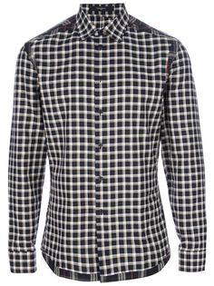 GIVENCHY - panelled check shirt 6