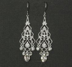 Rhinestone Chandelier Earrings  Chandelier Bridal by plumbcrazy, $28.00