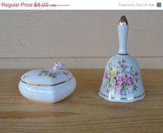 ON SALE ON Sale Vintage Porcelain Bell with White by JudysJunktion, $5.40