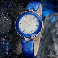 Kezzi moda de nova marca couro Azul