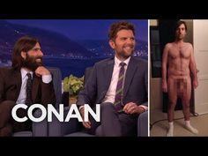 Adam Scott & Jason Schwartzman On Their Prosthetic Junk - CONAN on TBS (From movie The Overnight, shown at deadCENTER Film Festival 2015)