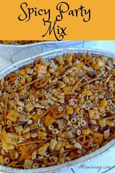 Snack Mix Recipes 93740 Spicy Party Mix and Ranch Oyster Crackers with Dill are ideal snack and appetizer food you can make ahead and have on hand during the holidays, game day, or give as gifts. Trail Mix Recipes, Snack Mix Recipes, Spicy Party Mix Recipe, Snack Mixes, Spicy Appetizers, Appetizer Recipes, Party Appetizers, Chec Mix Recipe, Ranch Oyster Crackers