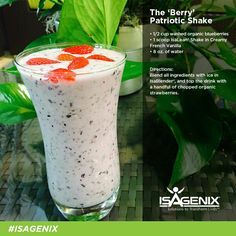 Isagenix Blueberry Smoothie - add 2 scoops instead of 1. I added ½ a peach, too! Delicious!!!!