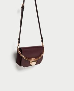 Image 1 of CROSSBODY BAG WITH FASTENER DETAIL from Zara