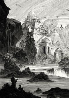 Obras em preto e branco e mundos fantásticos                                                                                                                                                                                 Mais