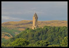 Wallace Monument from Stirling Bridge, Central Scotland   #travel #history