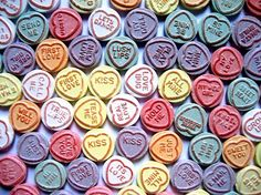 New Love Heart sweets released Pontefract Cakes, Love Heart Sweets, Love Kiss, Posca, Love Painting, Heart Art, Candyland, Confectionery, Love Art