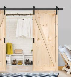 LADON Ovi liukuovipaketti mustalla pyörästömekanismilla - Mirror Line Loft, Entryway, Barn, Doors, Mirror, Interior Ideas, Inspiration, Furniture, Design