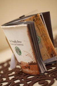 Creative Company   Scrap It: Starbucks coffee-cup album Creative Company, Starbucks Coffee, Coffee Cups, Craft Projects, Container, Scrapbook, Album, Crafts, Food