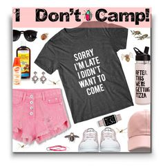 """Camping Trip 😝"" by fassionista ❤ liked on Polyvore featuring adidas, Under Armour, ban.do, Ray-Ban, Casetify, Larkspur & Hawk, New Look and summercamp"