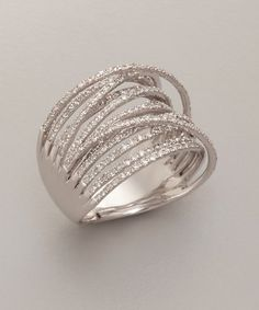 diamond and white gold 'Martha Graham' ring