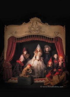 """ANNA BRAHMS """"Theater"""" Collector's Fine Art Greeting Card 5"""" x 7"""" Fairy Tale Once Upon a Time"""