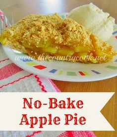 The Country Cook: No-Bake Apple Pie