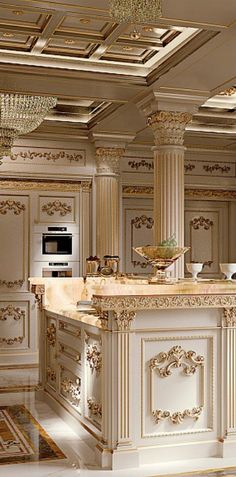 10 Must-Haves for a Luxury Kitchen Elegant Kitchens, Luxury Kitchens, Beautiful Kitchens, Beautiful Homes, Beautiful Live, Luxury Kitchen Design, Luxury Interior Design, Interior And Exterior, Küchen Design