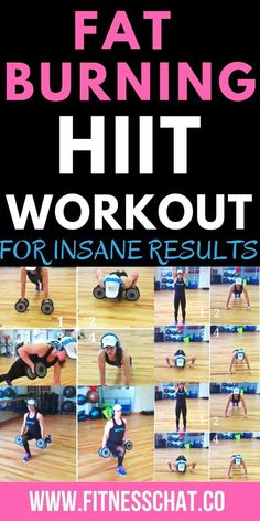 HIIT workouts for women at home or gym workout routine. Some the best hiit workouts at home include tabata workouts and cardio workouts at home for fast weight loss results. Try this killer fat burning full body workout at home! Gym Workout Plan For Women, Free Workout Plans, Cardio Workout At Home, Body Workout At Home, Tabata Workouts, Workout Diet, Workout Meals, Mini Workouts, Weight Workouts