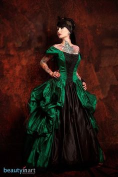Ghost Town Belle Gown by Azrael's Accomplice. Available at azacclothingcoutu...