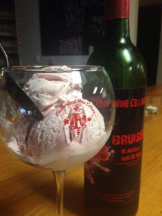 Delicious Wine Ice Cream from our Bruiser Wine