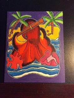Original octopus design on canvas