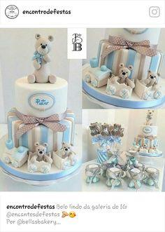 Baby Boy Cakes, Cakes For Boys, Teddy Bear Baby Shower, Baby Boy Shower, Baby Party, Baby Shower Parties, Teddy Bear Cakes, Baby Shower Cookies, Baby Shower Printables