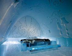 Hotel de hielo en Suecia. Diseño de Marnius Vroom, para la suite de lujo, vía http://travelinginfos.blogspot.com/