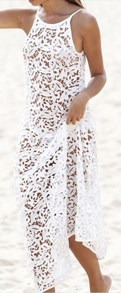 cutwork lace cover up