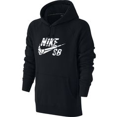 Nike SB Icon Griptape Pullover Hoodie (66 AUD) ❤ liked on Polyvore featuring men's fashion, men's clothing, men's hoodies, mens hoodies, mens hooded sweatshirts, mens hoodie, mens fleece hoodies and mens sport hoodies