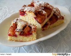Švestkový koláč bez droždí - hrnkový
