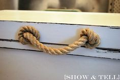Resultado de imagem para puxadores de gaveta como fazer corda de sisal