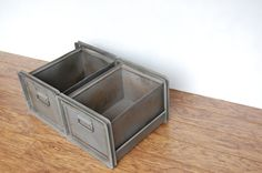 Stackable Metal Storage $78 on Etsy
