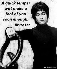 Bruce Lee was the most iconic martial artist of the century. Before dying at the young age of he captured the world's imagination; showing us the beauty of martial arts and, through his Eminem, Bob Marley, Wisdom Quotes, Quotes To Live By, Me Quotes, Qoutes, Anger Quotes, Happy Quotes, Motivational Pictures