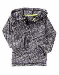 NWT Gymboree Boy 5 5T ICE ALL STAR Hoodie Henley Marled Raglan Long Sleeve Shirt #Gymboree #CasualSchoolEveryday