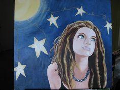 Allie.  Oil on wood