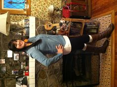 My casual fall outfit. Chambroid shirt , leggings, boot socks and boots! Great fall outfit!!