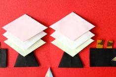  ひな祭りの折り紙【3月】簡単な雛飾りの折り方まとめ!五段並びも手作りできる! Cellophane Tape, Diamond Cake, Hina Matsuri, Colored Rice, The Fold Line, Peach Blossoms, Mochi, Diamond Shapes, How To Make Cake