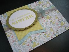 Handmade Birthday Card for Sister Thank You Card by apaperaffaire, $3.00
