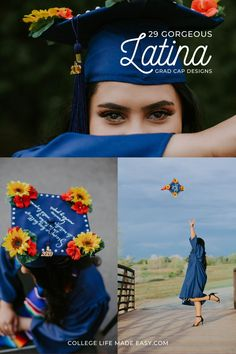 29 beautiful designs that celebrate Mexican heritage Graduation Quotes, College Graduation, Graduation Caps, College Hacks, College Life, Funny Grad Cap Ideas, Gorgeous Latina, Beautiful, Graduation Cap Decoration