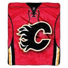 "Calgary Flames Throw Blanket NHL Soft Raschel Plush Team Jersey Logo 50"" x 60"" #Northwest #CalgaryFlames"