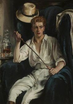 """""""The Young Polo Player"""" by William Bruce Ellis Ranken, Scottish..."""