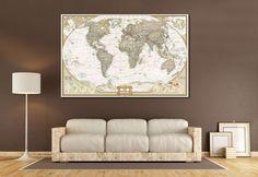 Push Pin World Map №866 Canvas Print