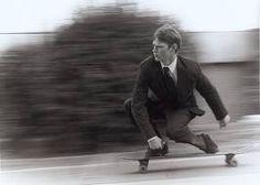 #skateboarding #suit #contrast