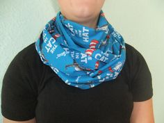 Infinity Scarf - Loop Scarf - Circle Scarf -made by me with Cat in the Hat fabric