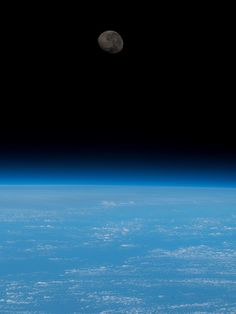 Moon and Blue Earth Wallpaper [Something Blue]