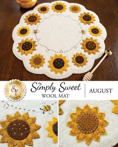 Shabby Fabrics is an online quilting shop for fabric, notions, patterns, & kits. Penny Rug Patterns, Wool Applique Patterns, Hand Embroidery Patterns, Geometric Embroidery, Quilt Patterns, Embroidery Designs, Felt Embroidery, Felt Applique, Applique Quilts