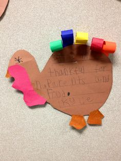 I am thankful for.... -Kindergarten writing