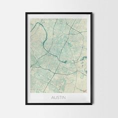 Austin art posters and prints of your favorite city. Unique map design of Austin. Perfect for your house and office or as a gift for friend.Map Print - Minimalist City Map Art Poster - Interior Ideas, Wall Art Gift, Cool Art Prints, Unique Map Posters, Cheap Bedroom Gifts, Decorative Design
