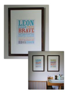 Name meaning - wall art - lovely thing for your kids