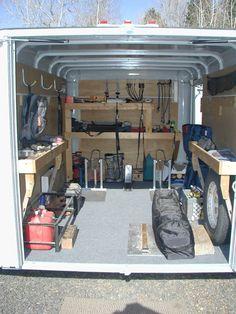 enclosed trailer cabinet ideas - Google Search