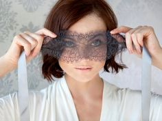 Lace and Silk blindfold...I may be weird admitting that I like this, but I do:) Great bachelorette party gift!
